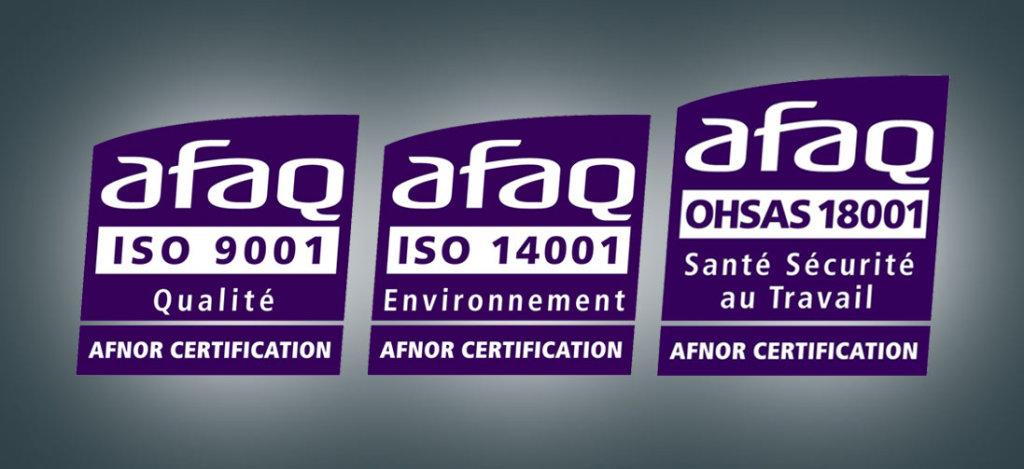 L'engagement sociétal et environnemental d'Environnement Recycling reconnu par l'AFNOR.